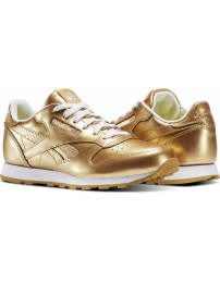 Reebok zapatilla classic leather metallic jr